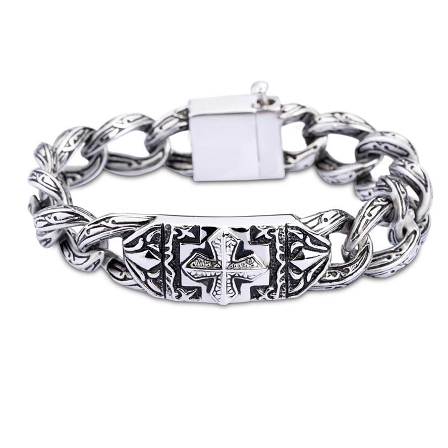 Celebration Gift Europe Western Style Vintage Cross Jewelry Bracelet For Men  And Women(china (