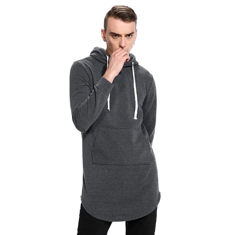 Aliexpress.com   Buy Extra Long Hoodie Pullover Men 2017 Fashion Both Side  Zipper Pocket Design Mens Hoodies Casual Slim Fit Hip Hop Homens Moletom  from ... 600883c787f