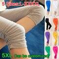 2017 spring summer super-elástico cores doces sólidos mulheres leggings senhoras capri feminino plus size grande xxxl 4xl xxxxl calças pés