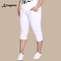 Extra Large 6XL Women Pants Capris Pants High Waist Stretch Pencil Pants Skinny Trousers For Women
