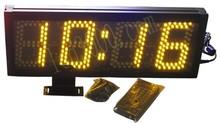 Duży rozmiar 5 cal wysokość charakter zegarek LED 4 cyfry pokaż godzin i minut 12 H 24 H darmowa wysyłka (HST4-5A) tanie tanio DIGITAL Cyfrowy Budziki 3000g 450mm HST4-5B 160mm Metal NoEnName_Null