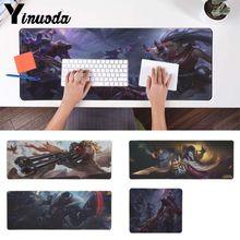 Yinuoda Custom Skin league of legend jhin Customized laptop Gaming mouse pad Good quality Locking Edge large Game Mouse Pad