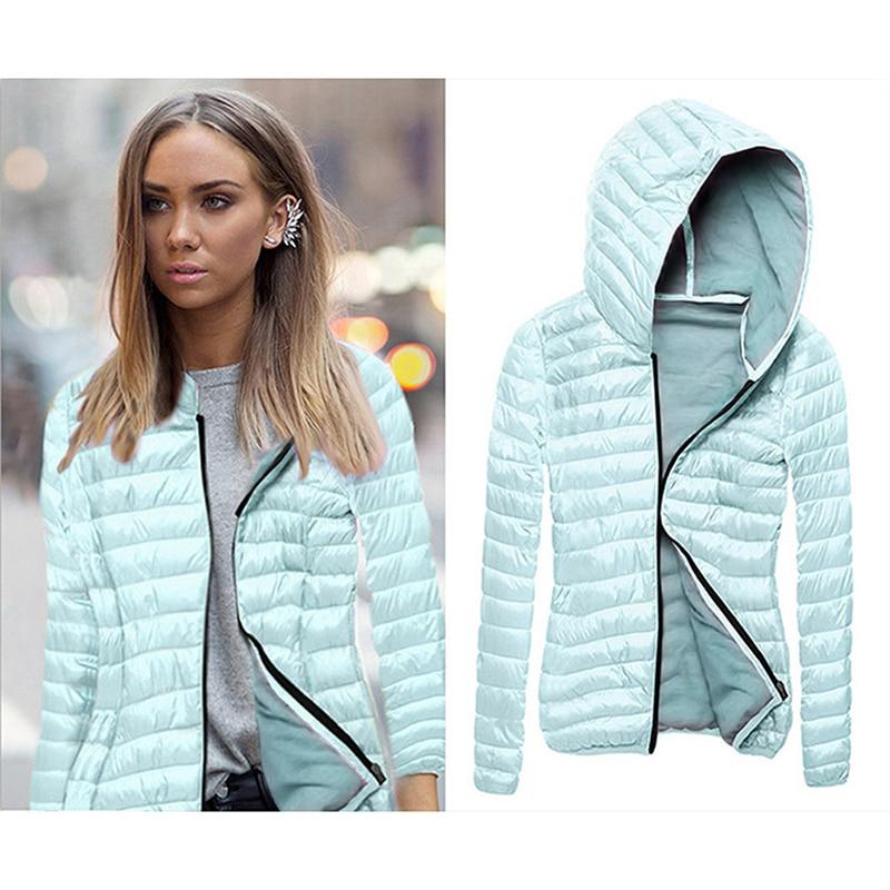 Autumn Winter Jacket Women Down & Parkas Slim Cotton Jackets Female Cotton-Padded Coat Outerwear Thin Parka Zipper