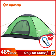 KingCamp Ultralight Camping tent 3 Seizoen Tent outdoor Camping tent familie wandelen pole tent Quick Automatische Serie Familie(China)