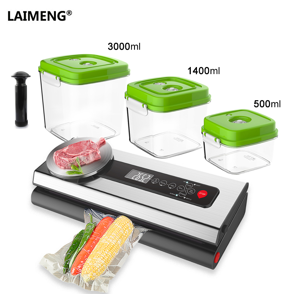 LAIMENG Vacuum Sealer Machine With Food Grade Container Vacuum Bags Packaging For Vacuum Packer Packing For Baking Cooking S212LAIMENG Vacuum Sealer Machine With Food Grade Container Vacuum Bags Packaging For Vacuum Packer Packing For Baking Cooking S212