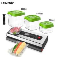LAIMENG Vacuum Sealer Machine With Food Grade Container Vacuum Bags Packaging For Vacuum Packer Packing For Baking Cooking S212|Vacuum Food Sealers|   -