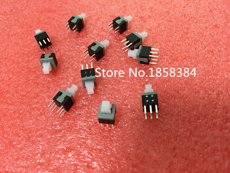 1000PCS 5 8X5 8mm 6Pin Push Tactile Power Micro Switch Self lock On Off button Latching