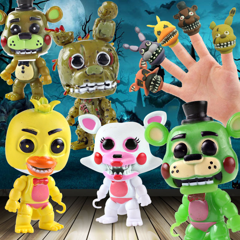 New Style Five Nights at Freddys Toys Plastic Freddy Foxy Fazbear Bear Action Figure Hand Toy Original Box Halloween GiftNew Style Five Nights at Freddys Toys Plastic Freddy Foxy Fazbear Bear Action Figure Hand Toy Original Box Halloween Gift
