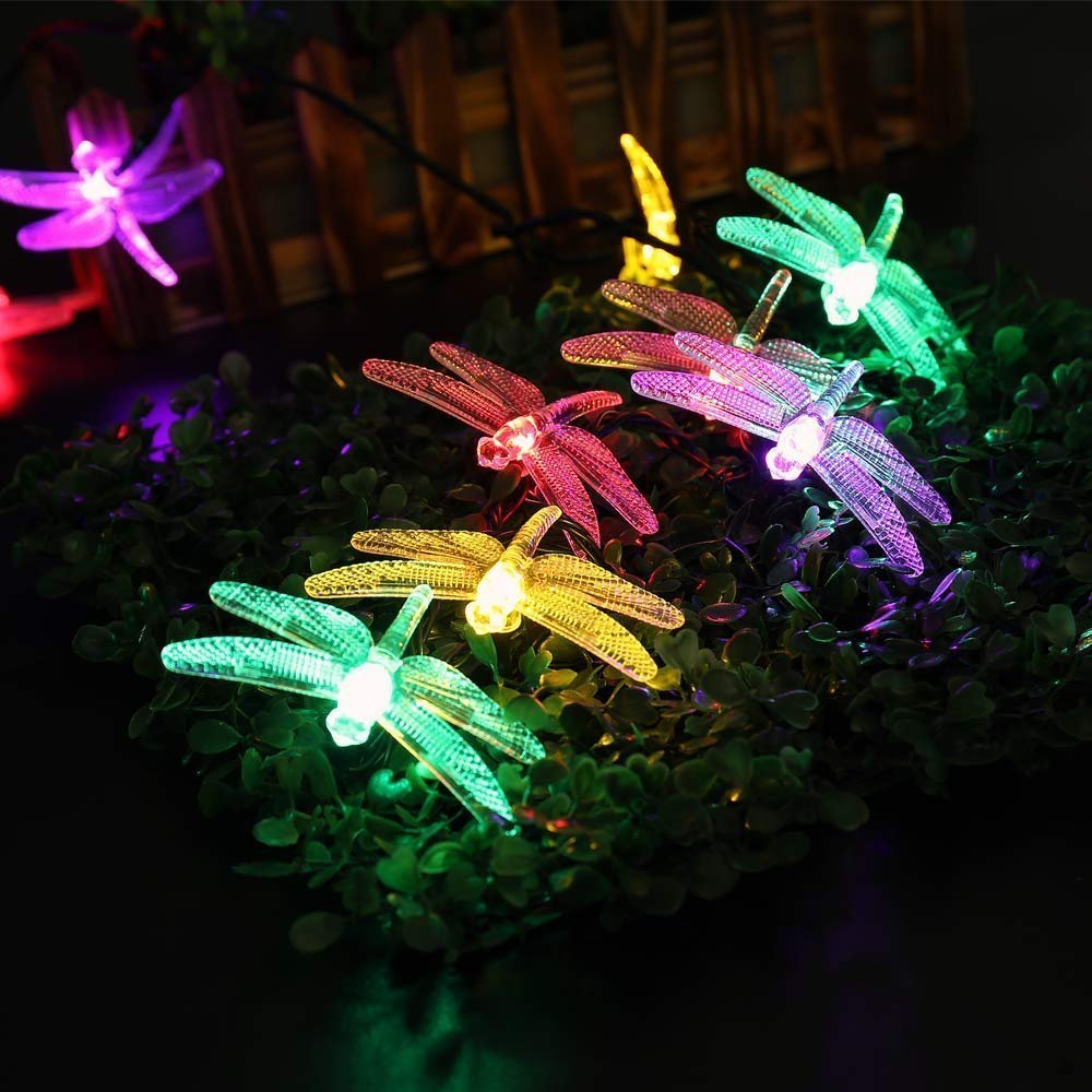 6m 30 led dragonfly outdoor lighting rgb solar light led christmas 6m 30 led dragonfly outdoor lighting rgb solar light led christmas string fairy lights for home and garden waterproof led sensor in solar lamps from lights mozeypictures Choice Image