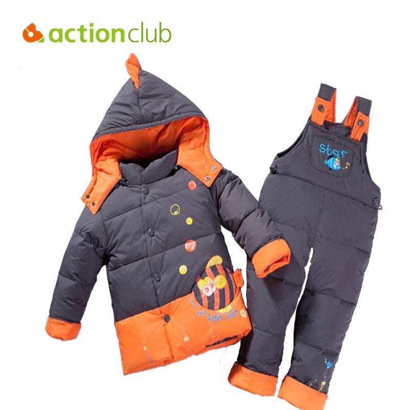 c04380d86f87 Winter Children Cothing Cute Fish Sets Jacket Parkas Set And ...