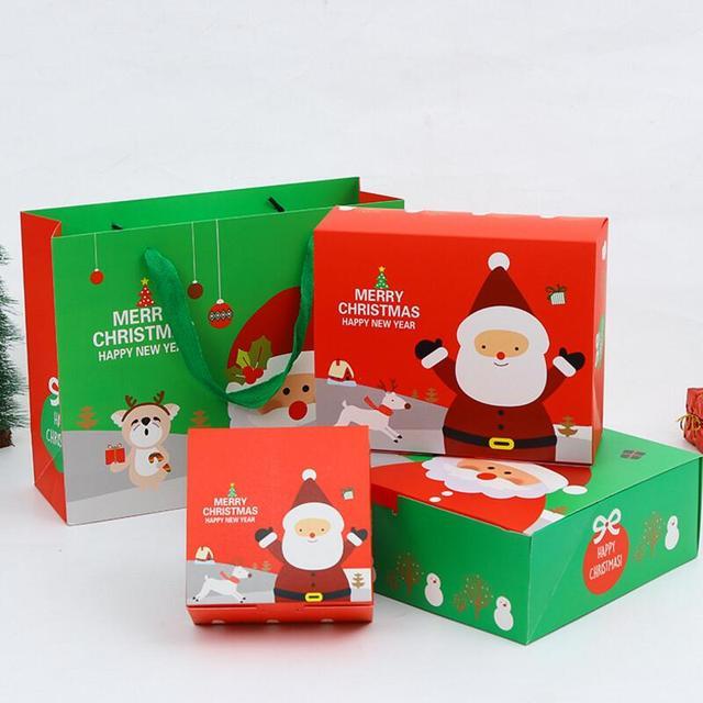 20pcslot innovative small christmas gift box christmas baking cookies packaging box gifts 13 - Small Christmas Gifts