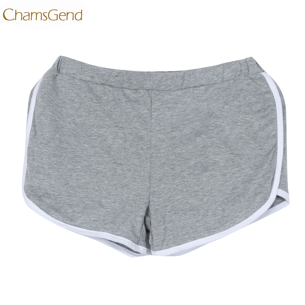 Newly Design Women Girls Cotton Blends Elastic Waist best Exercise   Shorts   160629 Drop Shipping