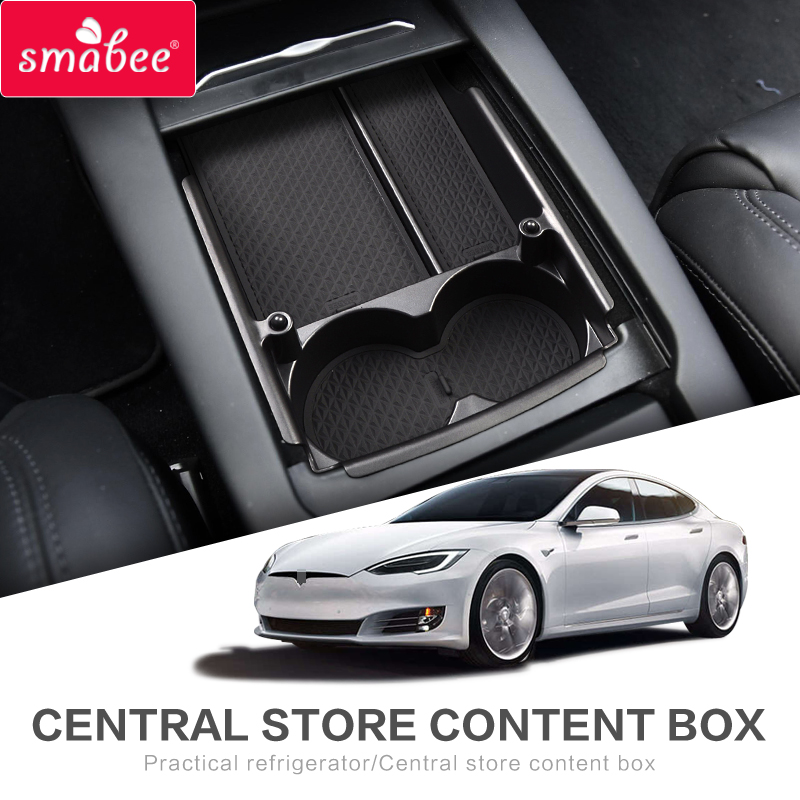 smabee Car central armrest box For Tesla MODEL X MODEL S Interior Accessories Stowing Tidying Center Console Organizer BLACKsmabee Car central armrest box For Tesla MODEL X MODEL S Interior Accessories Stowing Tidying Center Console Organizer BLACK