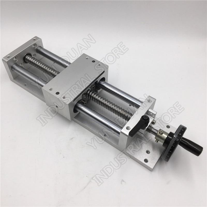 500 MM 20 course manuelle roue à main module linéaire Table coulissante étape linéaire SFU1605 vis à billes C7 plate-forme de déplacement