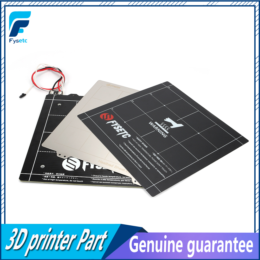 235 235mm 3D Printer Magnetic Heated Bed 24V Wiring Thermistor Kit With Steel Sheet For Ender