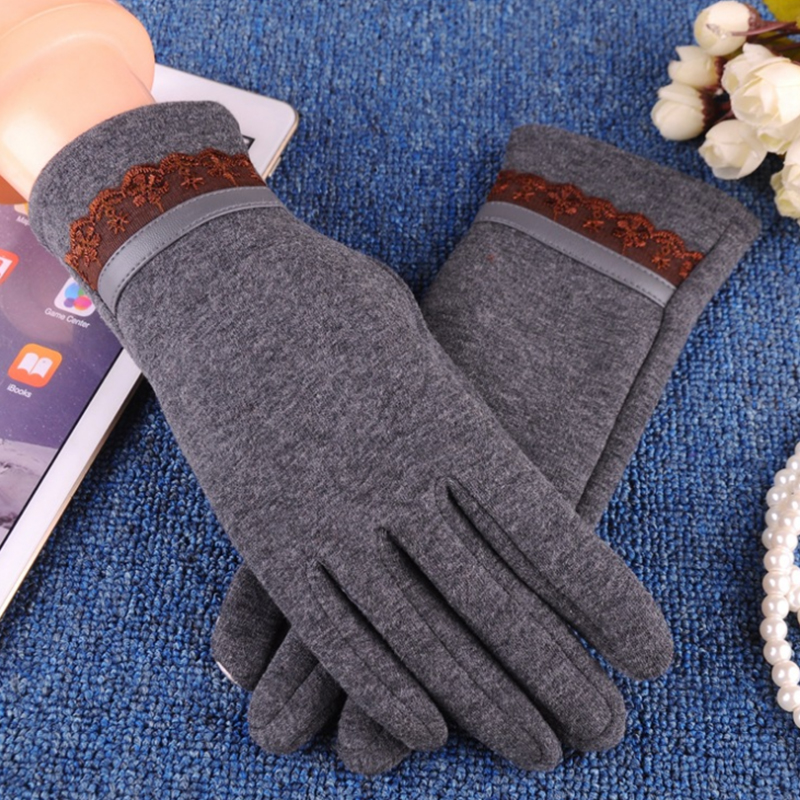 NAIVEROO Waterproof and Warm Touch Screen Gloves made of PU Leather and Conductive Fibers for Women Suitable for Spring and Winter 45