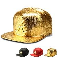 Janvancy PU cuero gorras de béisbol hombres mujeres Hip Hop Punk plana  hueso sombreros del Snapback patrón del cocodrilo una car. 0d7f0fc412e
