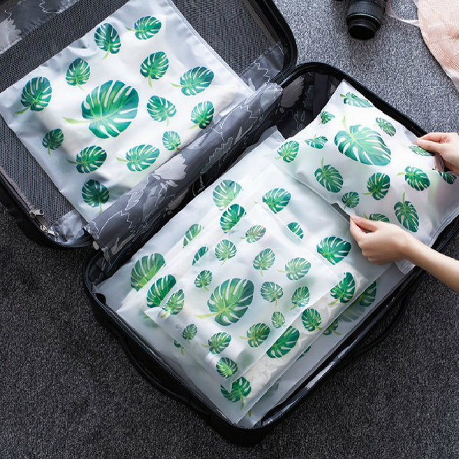 Waterproof EVA Transparent Shoes Bag Accessories Suitcase Organizer Makeup Kit Clothes Zipper Packing CosmeticToiletry Storage