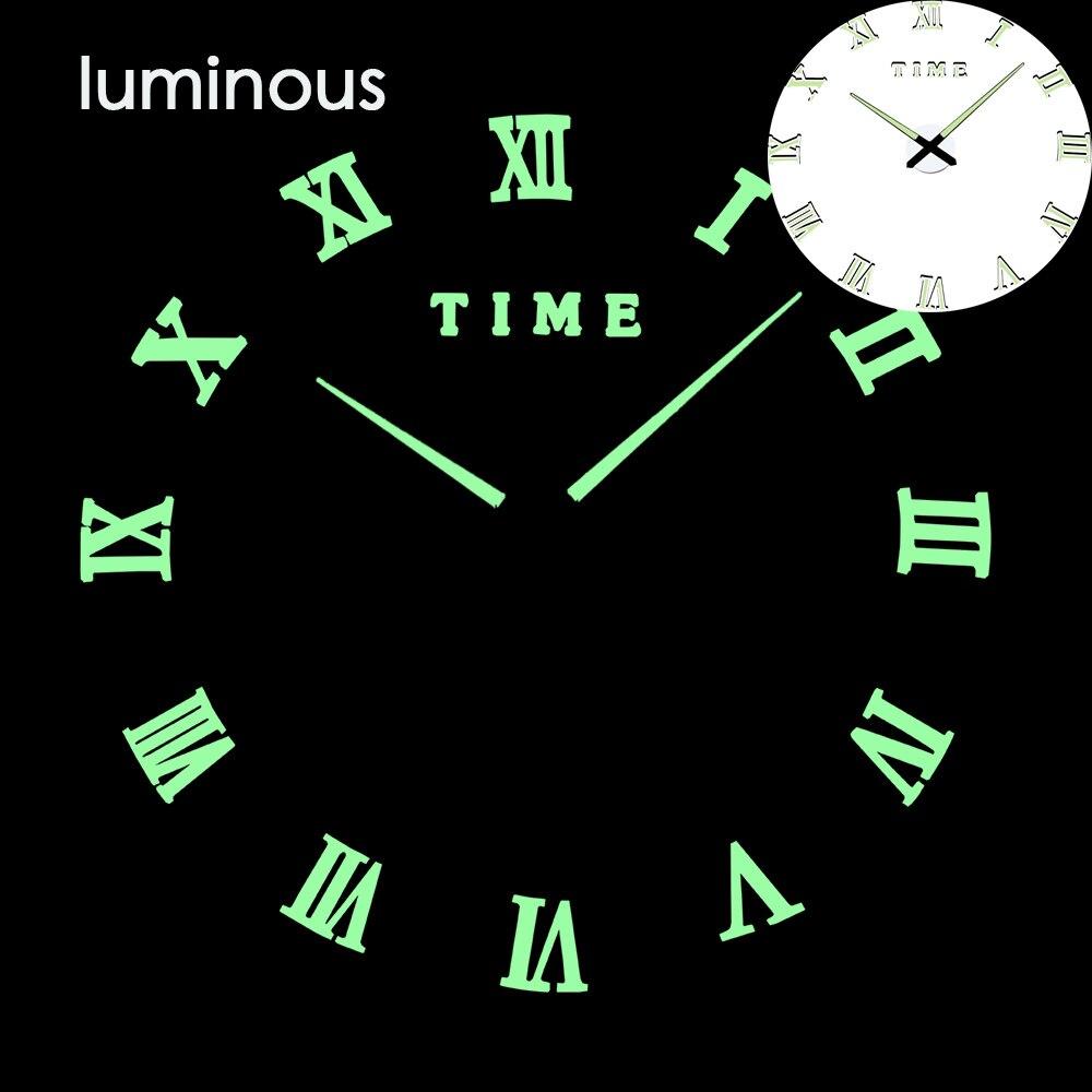 27 различных дизайнов светящиеся настенные часы современный дизайн настенные цифровые большие Big3D DIY модные Saat Reloj Horloge klok - Цвет: wall clock 9