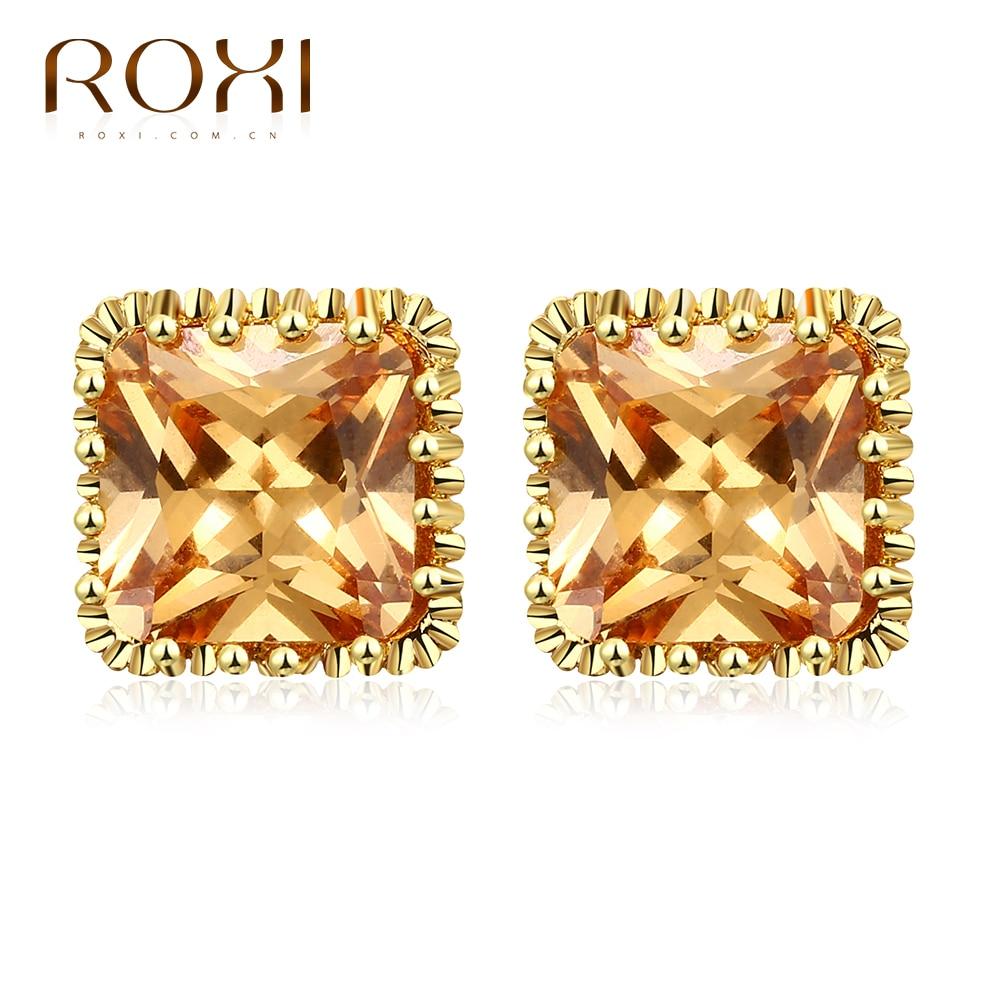 ROXI Elegante Pendiente para Las Mujeres de Cristal Austriaco Grande Champagne C