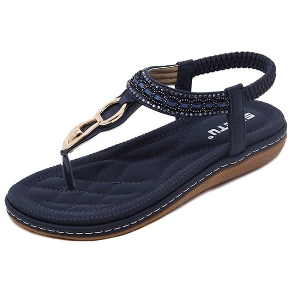 Fashion Boutique SIKETU Summer Flat Sandals Ladies Bohemia Beach Flip Flops Shoes Gladiator Women Shoes Sandles platform Clip