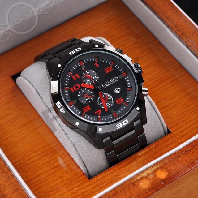 TOP Luxury brand Curren Men Steel Watches men Fashion Sports Watches Quartz Clock Army watches Casual Waterproof watches 0210