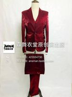 S 5XL 2015 Men S New Slim Singer GD Bigbang High Grade Silk Dress Fabric Suit