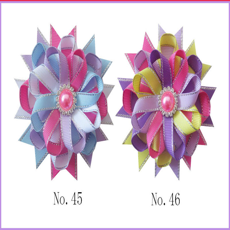 50 BLESSING Good Girl Boutique Modern Style New Bird/'s Nest Hair Bow Clip