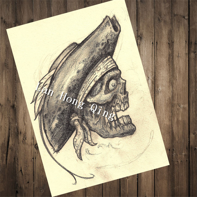 Ccc148 Top Fashion Retro Vintage Tattoos Patterned Poster Skull Head Home Decor Pictures For