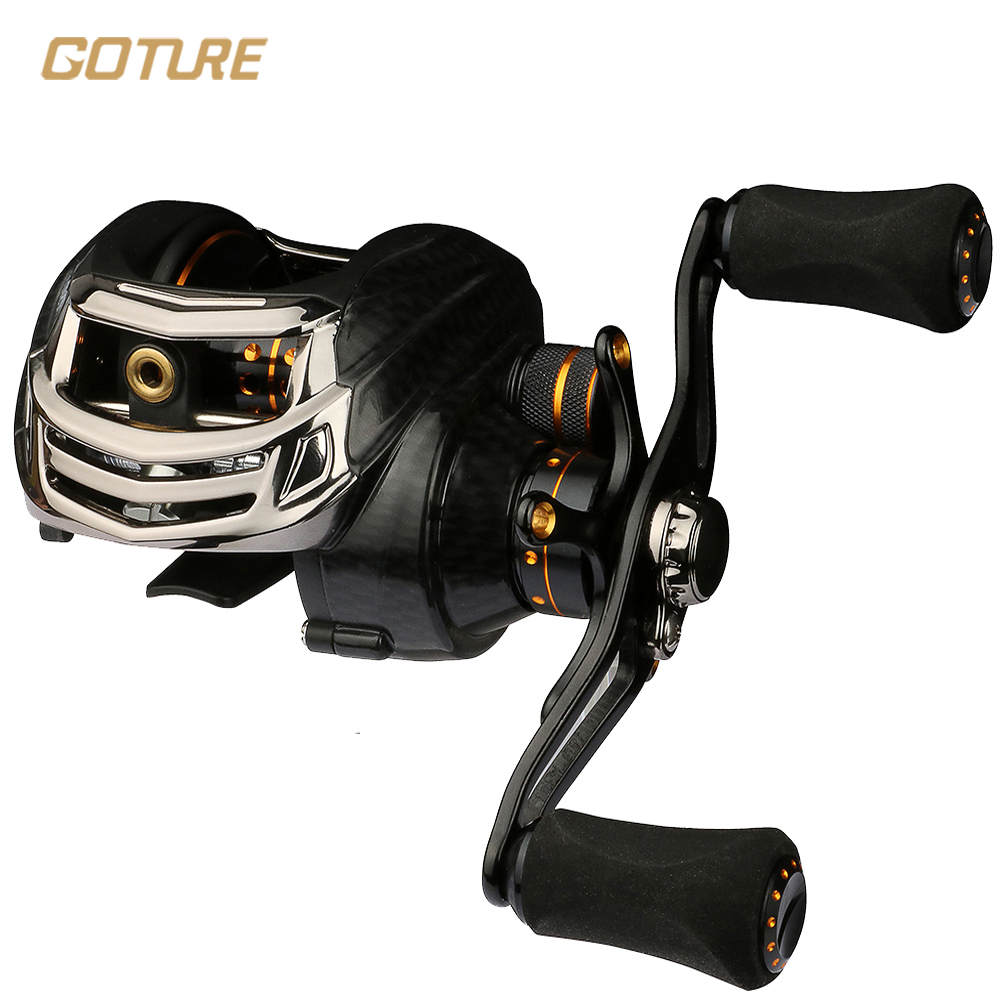 Fishing reel 13 1bb black left hand baitcasting reel bait for Left handed fishing reels
