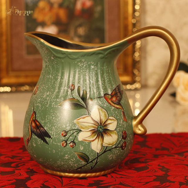 Style Of The Ancient Vase Of Flower Flower American Pastoral Retro