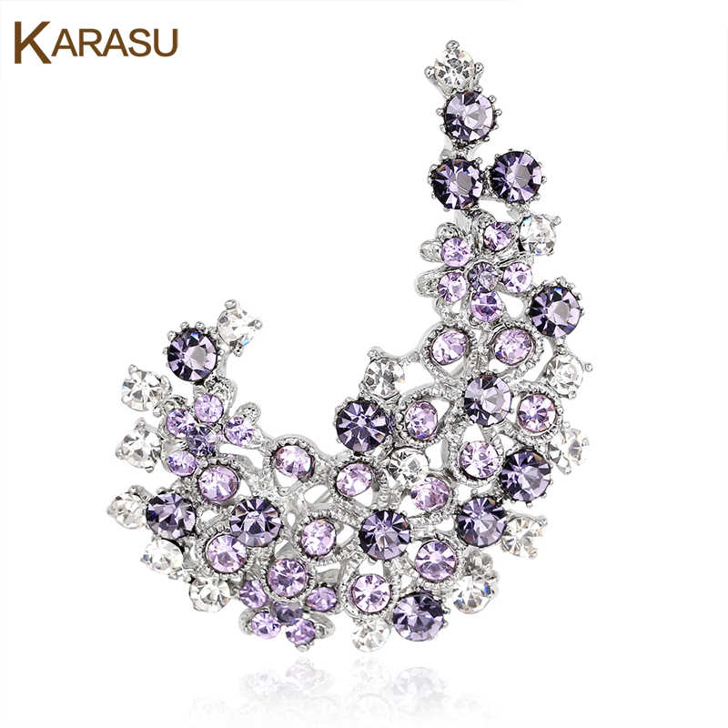 Exquisite Design Full Shiny Rhinestones Brooches Women Girls Brooch Pins Fashion Jewelry Wedding Accessories Decoration
