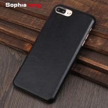 جرابات من الجلد الأصلي لهواتف iPhone 6 S Plus 11 Pro Max ، غطاء لهاتف iPhone X XS Max XR 7 ، غطاء صوفيونج أصلي Fundas Coque