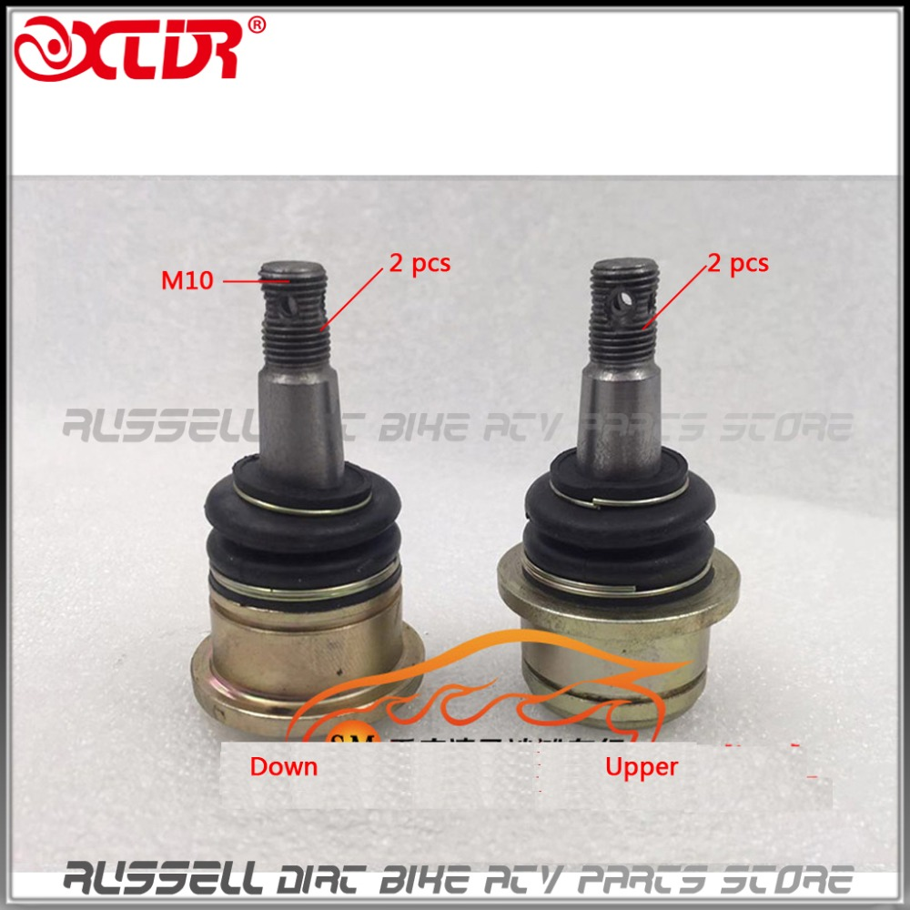 Large ARM Ball Head Tie Rod End Set M10 ATV TOP Upper Down Arm For Loncin
