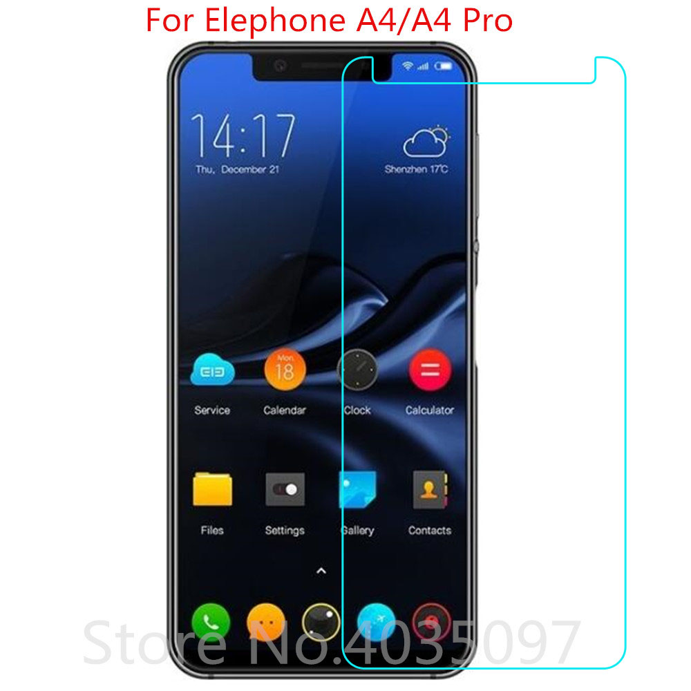 9H 2.5D For Elephone A4 Pro Tempered Glass Protective Glass Film Explosion-proof For Elephone A4 Screen Protector