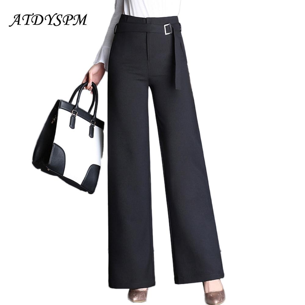 High Quality   Wide     Leg     Pants   For Women Elegant High Waist Plus Size 3XL 4XL Suits   Pants   Loose Casual Party Dance   Pants   Trousers