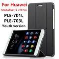 Чехол Для Huawei MediaPad T2 7.0 Pro Смарт крышки PU Кожаный Защитный Tablet Для HUAWEI Youth PLE-701L PLE-703L Чехол Протектор