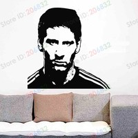 Free shipping Wall Stickers Wholesale and retail Wall decor PVC material decals Football soccer Living Effect Z-271