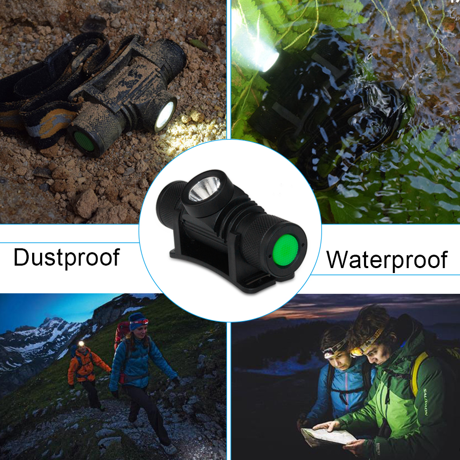 Led Headlamp Head Lamp 18650 7W 1000Lm Head Lamps For Hunting camping Torch Head T6 Flashlight On Forehead Head Lamp in Headlamps from Lights Lighting