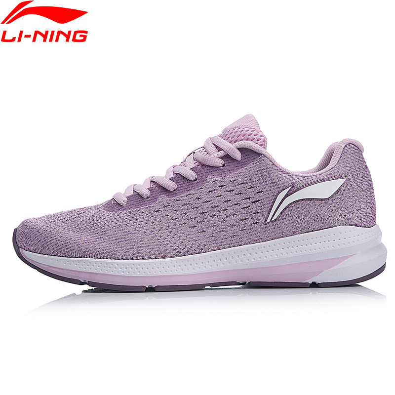 Li-Ning Women REACTOR Cushion Running Shoes Light Wearable LiNing Comfort Anti-Slippery Sport Shoes Sneakers ARHN056 li ning professional badminton shoe for women cushion breathable anti slippery lining shock absorption athletic sneakers ayal024