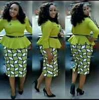 2019 new elegent fashion style summer african women cotton plus size dress L 5XL