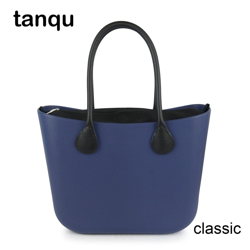 2018 New tanqu Classic EVA Bag with Insert Inner Pocket Colorful Handles  EVA Silicon Rubber Waterproof Women Handbag Obag Style 9ed3662279
