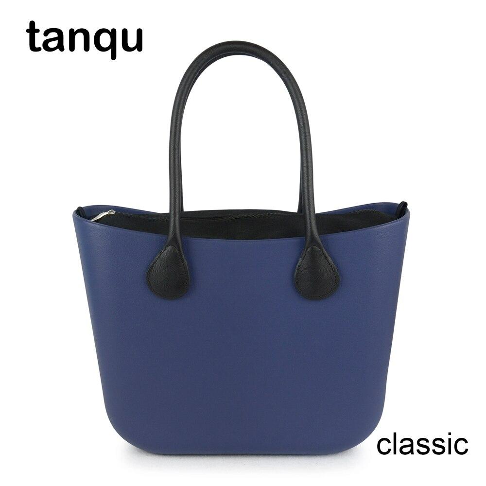 2018 nowy tanqu klasyczne EVA torba z wkładka wewnętrzna kieszeń kolorowe uchwyty EVA gumy krzemowej wodoodporne kobiety torebka w stylu Obag w Torby z uchwytem od Bagaże i torby na  Grupa 1