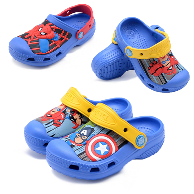 a950a7335ff8d US $10.74 |The Avengers IronMan Boys Slippers Captain America Swimming  Shoes Kids Water Shoes Spiderman Toddler Slippers Kids Slipper 2018-in  Slippers ...