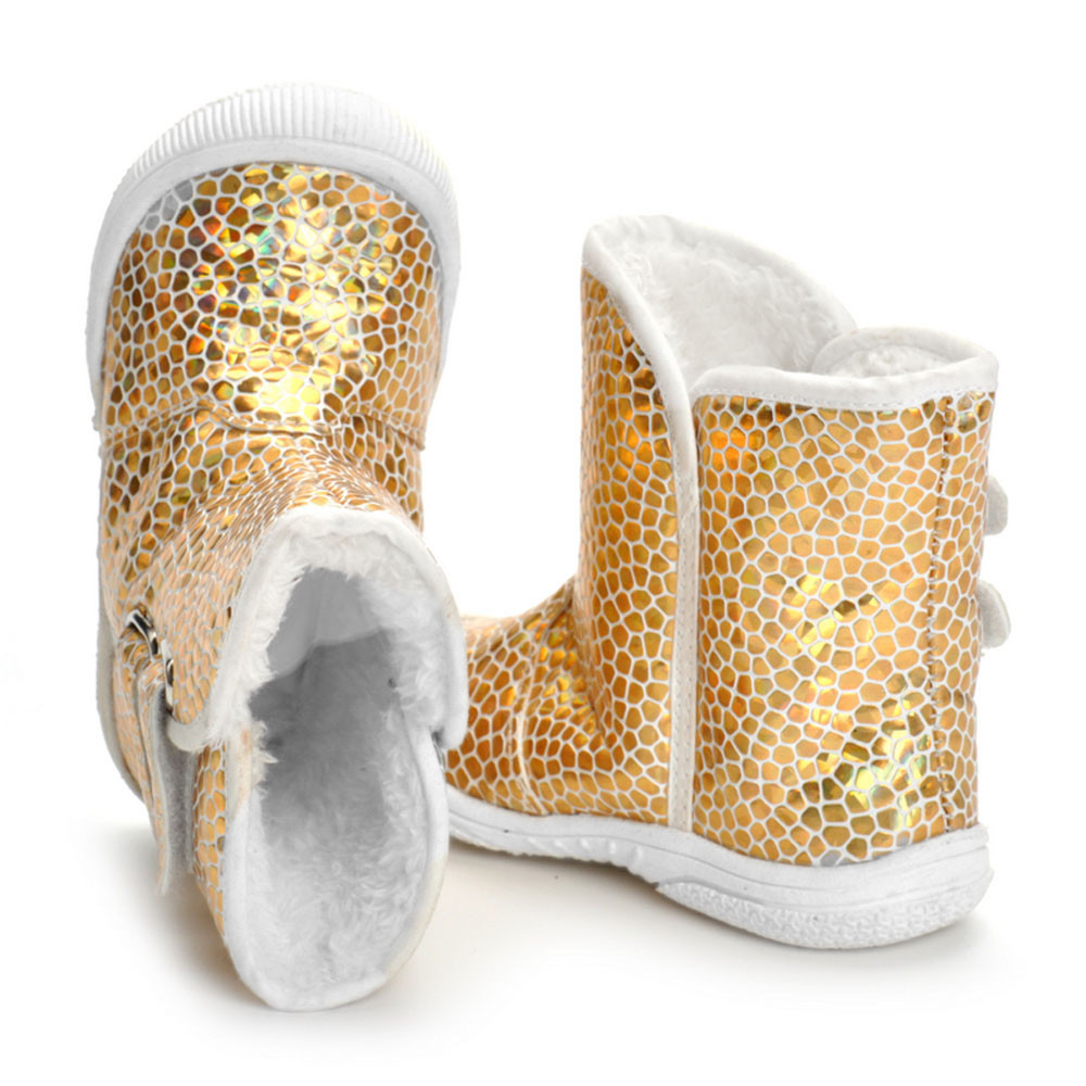 Hot SALE Children Shoes Toddler Newborn Baby Boy Girl Gold PU ... 996f62f5e4e3