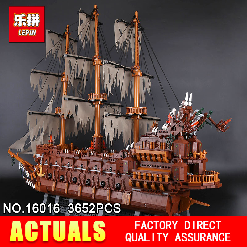 Lepin 16016 3652Pcs Movies Series MOC flying dutch The Flying the Netherlands Building Blocks Bricks Compatible Children Gifts lepin 16016 3652pcs movie series flying the dutch blocks bricks toys for children compatible legoing pirates caribbean