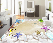 beibehang High creative personality wall paper 3D fashion shellfish beach floor decoration painting papel de parede 3d wallpaper