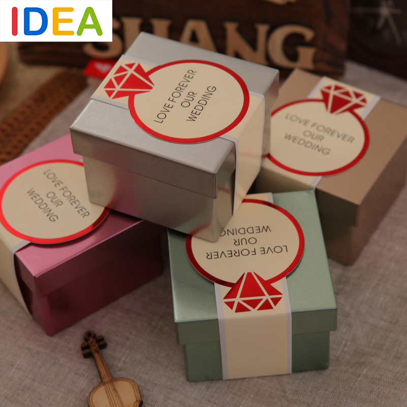 Idea Wedding Favor Boxes Metal Tin Box For Candy Jewelery