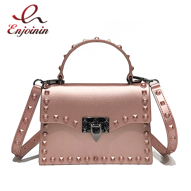 9ec656e0a572 Classic Style Design Rivets Fashion Pu Leather Casual Totes Ladies Pouch  Handbag Female Shoulder Bag Crossbody Messenger Bag