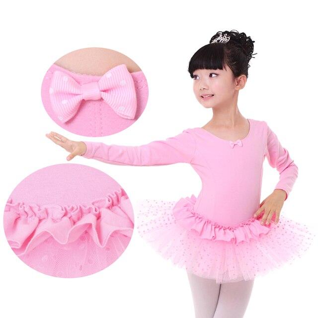 Livraison Gratuite Pas Cher Mignon Infante Cygne Lac Costume Justaucorps De Gymnastique  Filles Enfants Rose Robe d56e4d99726